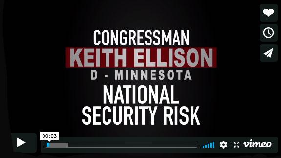 Keith Ellison, EnemiesWithin Video by Trevor Loudon